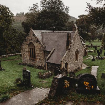 North Wales Wedding Photographer at Llantysilio Church Llangollen