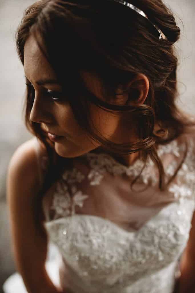 Wedding Photography Tips - Making the most of Bridal Prep - close-up of bride